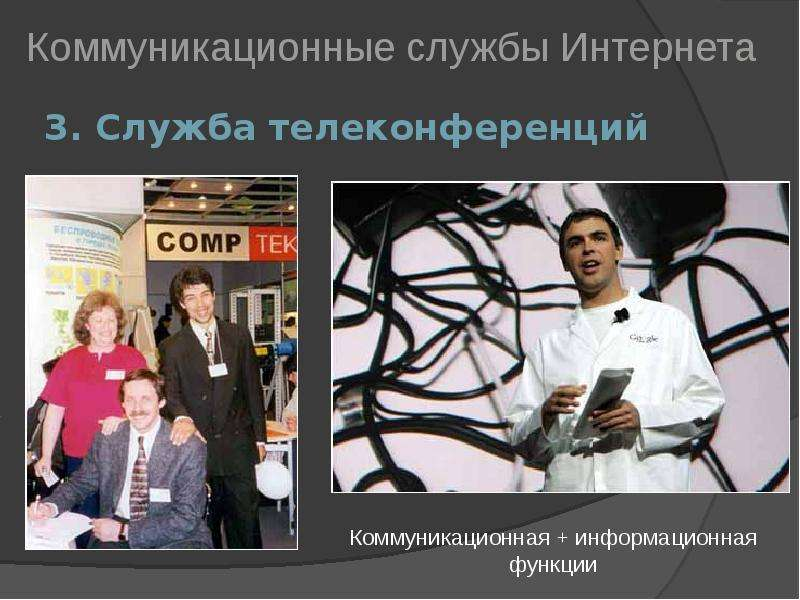 3. Служба телеконференций Коммуникационные службы Интернета