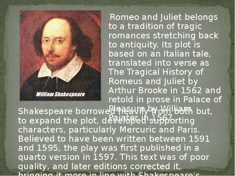 romeo and juliet topics