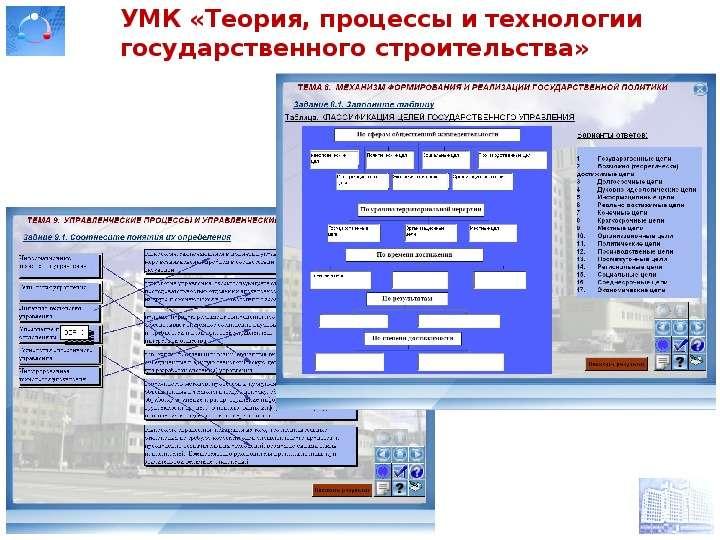 УМК «Теория, процессы и технологии государственного строительства»