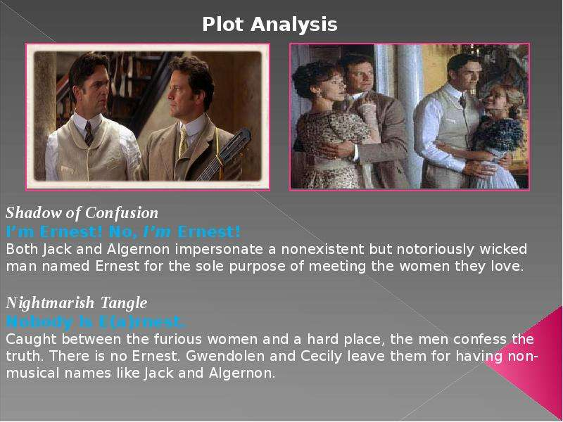 """the importance of being earnest stylistic analysis Character analysis – the importance of being earnest (algernon moncrief) algernon moncrief in oscar wilde's """"the importance of being earnest"""" is quite simply a."""
