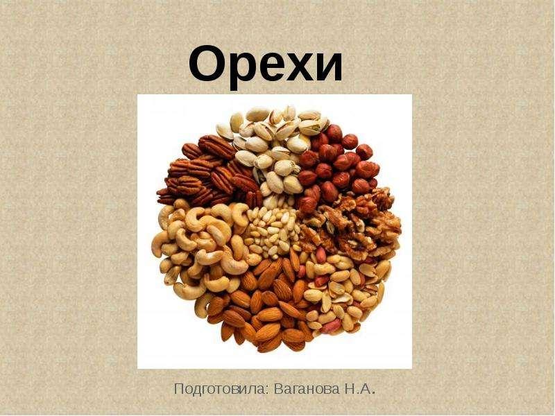 Орехи Подготовила: Ваганова Н. А.