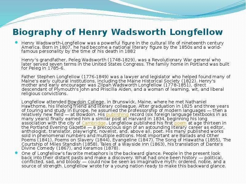 a biography of henry wadsworth longfellow