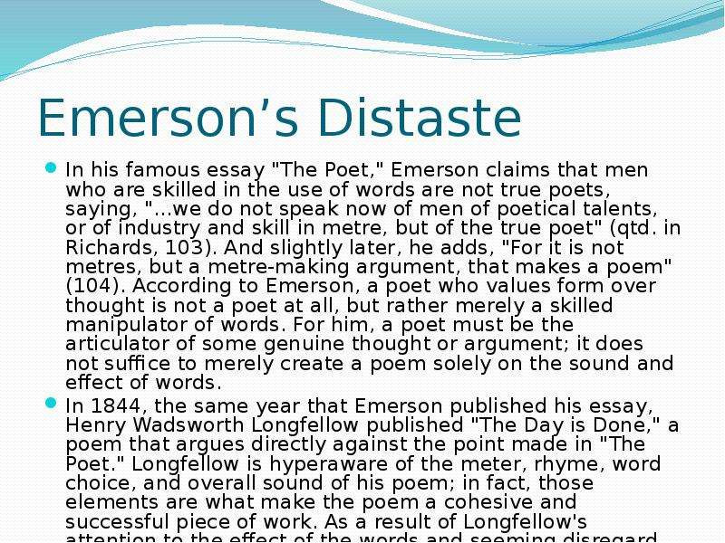 famous essays by emerson