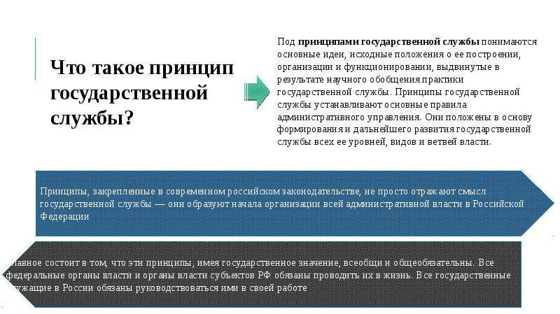 ПРИНЦИПЫ ПОСТРОЕНИЯ И ФУНКЦИОНИРОВАНИЯ СИСТЕМЫ ГОСУДАРСТВЕННОЙ СЛУЖБЫ, слайд 4