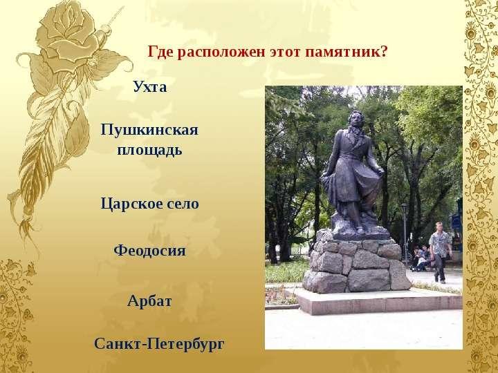 Монумент где находится