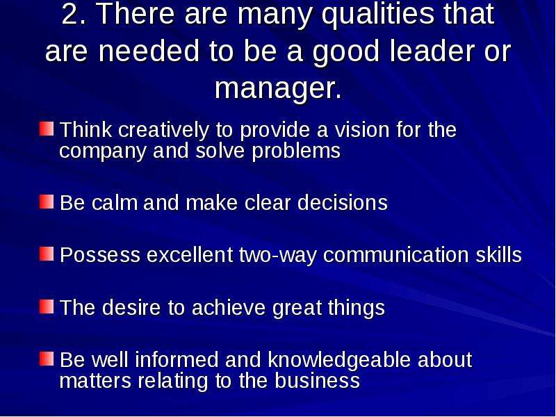 essay what qualities should a good manager have