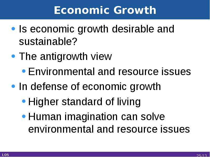 the desirability of economic growth essay Ecological economics: a progressive paradigm current global economic system and, as this essay draw an important distinction between economic growth.