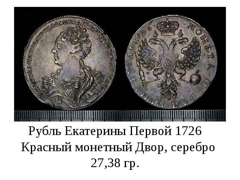 """Презентация на тему """"Монеты достоинством один рубль"""" - презентации по Истории скачать - скачать презентацию"""