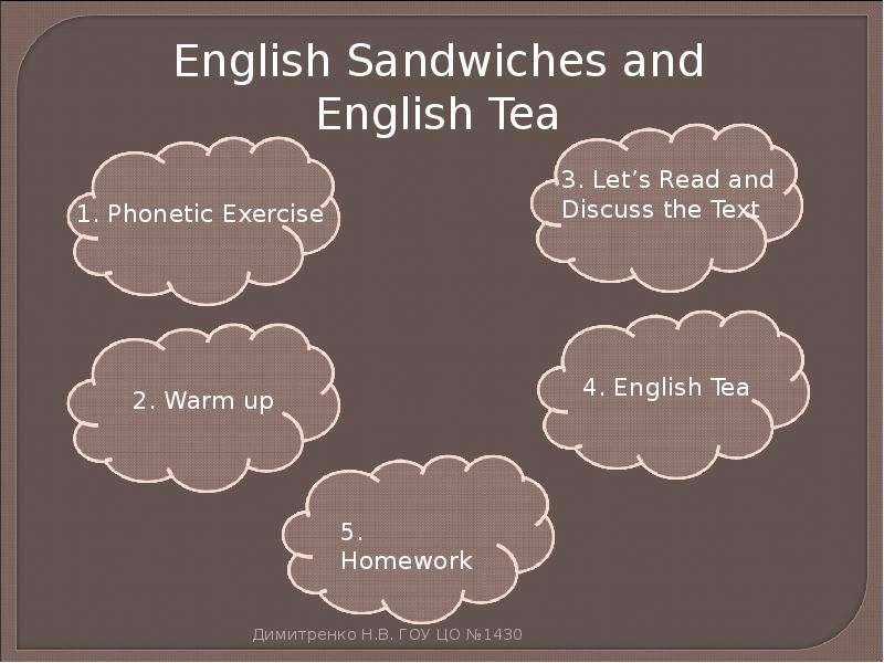 Текст чай на английском языке
