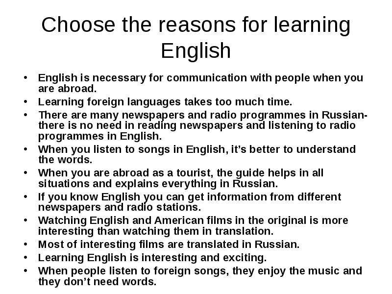 why is knowing english good for Reasons why learning english is so important and useful if we know english, we will get good chance to find good jobs how do think about that why.