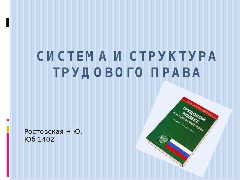 Презентация Система и структура трудового права