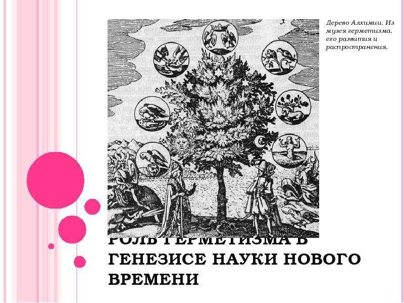 Презентация РОЛЬ ГЕРМЕТИЗМА В ГЕНЕЗИСЕ НАУКИ НОВОГО ВРЕМЕНИ
