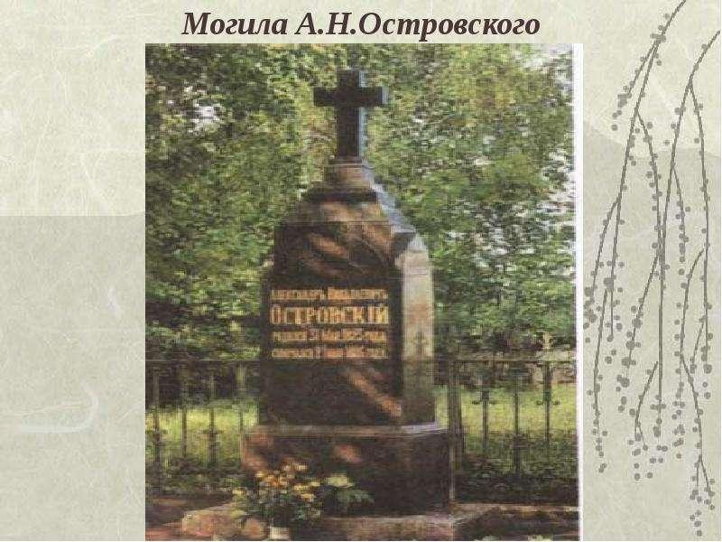 Могила А. Н. Островского