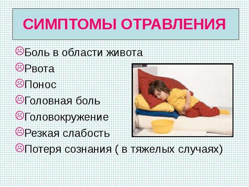 Симптомы температура понос головокружение