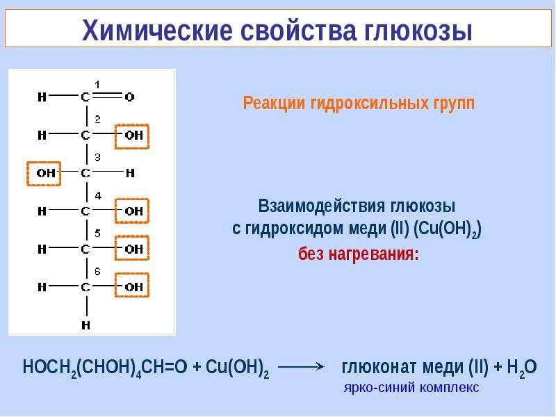 укажите уравнение качественой реакции на глюкозу родино