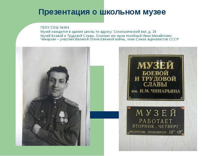 Школьный музей презентации