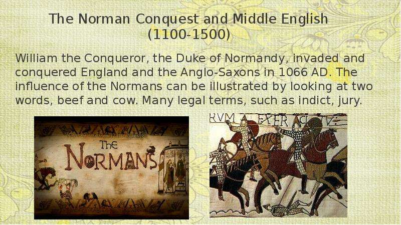 an analysis of normans and middle english Faye getz's medicine in the english middle ages the analysis of his leaving aside the ambiguity about who is to count as english people (not the normans.