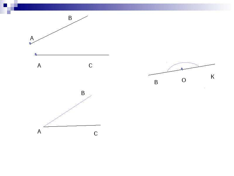 Тема урока: УГОЛ Цель урока: сформировать полное представление о угле как геометрическом понятии, рис. 2
