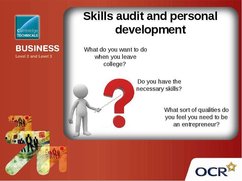 personal skills audit The skills audit assessed formal education and skills training as well as levels of applied practical and experiential knowledge the questionnaire evaluated these levels formal education and skills training in terms of the following.