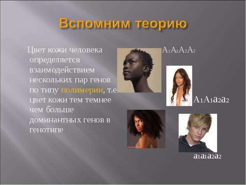 Доминантный ген цвета кожи человека
