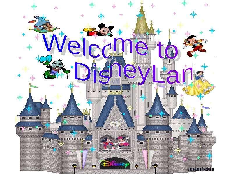"К уроку английского языка ""Welcome to DisneyLand"" -"