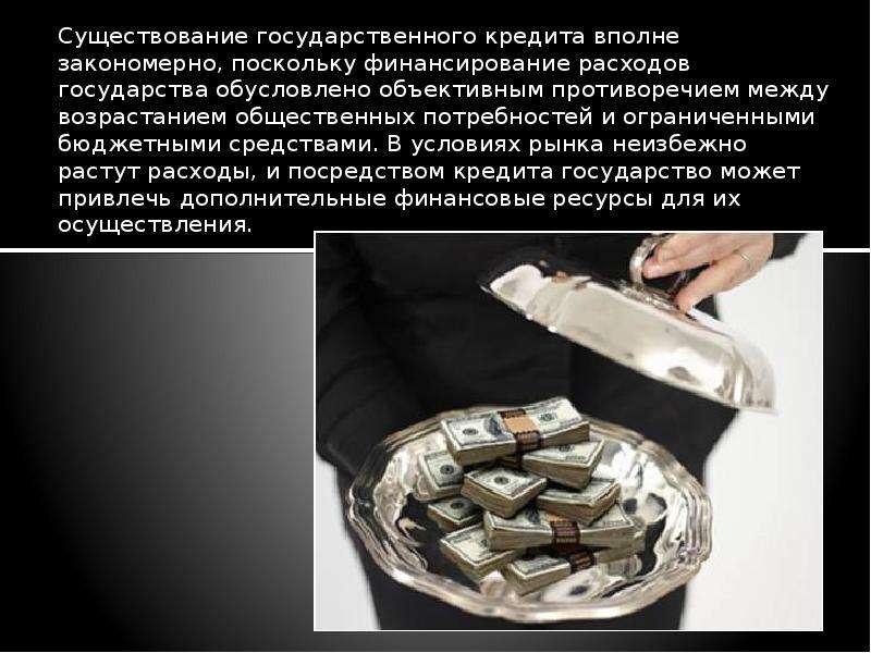 Существование государственного кредита связано с