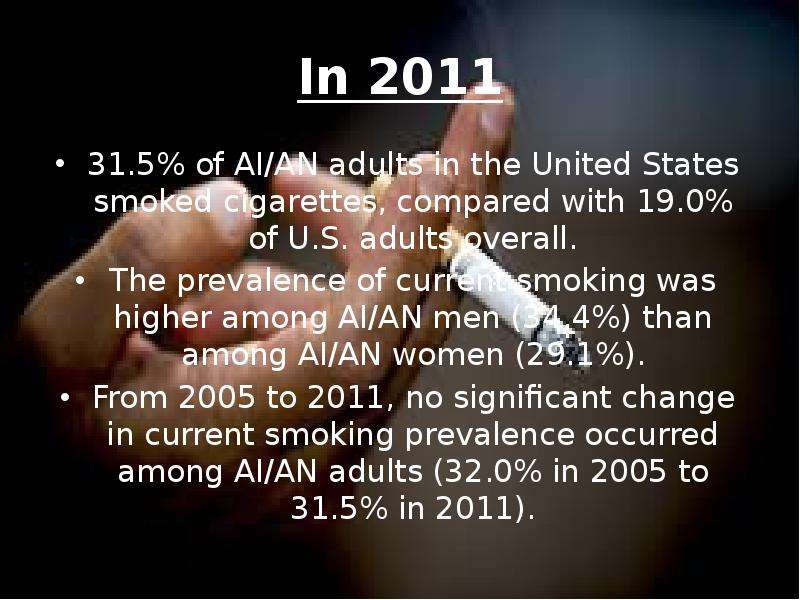 the prevalence of cigarette smoking related diseases in the world today Who global report on trends in prevalence of tobacco smoking who global report on trends in prevalence of tobacco noncommunicable diseases (ncds), the world.