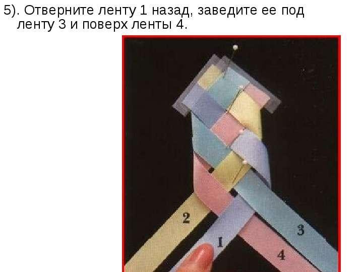 Схемы для плетения фенечек из ленточек