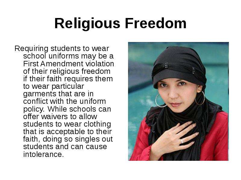 a violation of rights school uniforms Are student dress codes a violation of civil rights dress codes and school uniforms have existed in america for more than 100 years a school cannot.