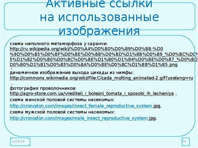 Активные ссылки на использованные изображения схема неполного метаморфоза у саранчи: , динамичное из