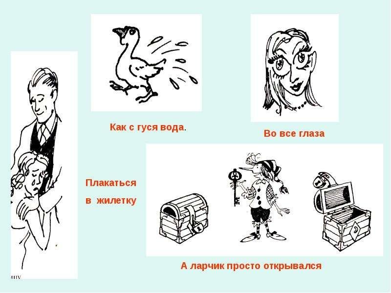 Картинки с фразеологизмами 4 класс