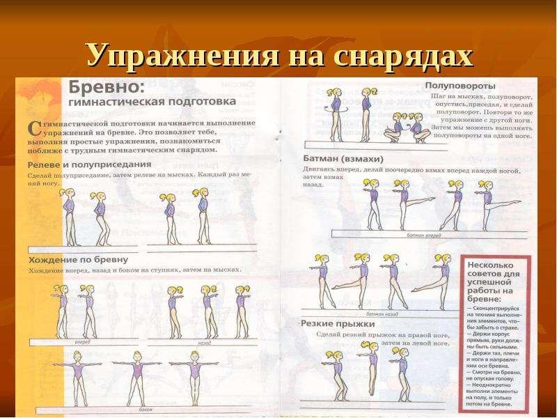 Упражнения для гимнастики в