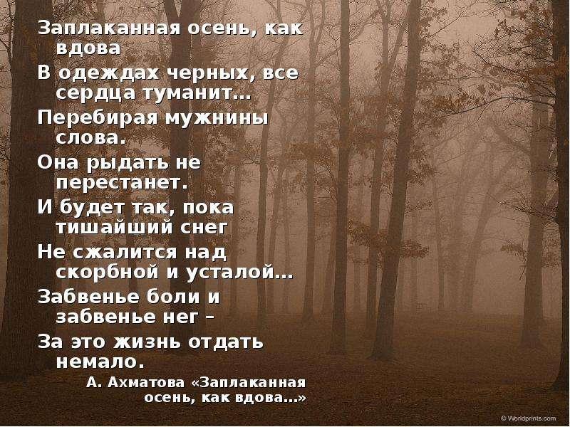 сочетание анна ахматова стихи про осень пума