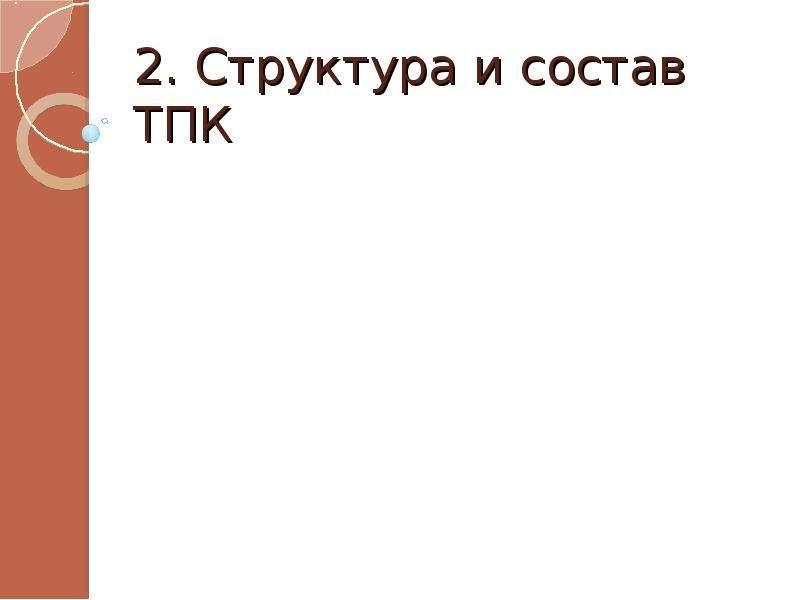2. Структура и состав ТПК