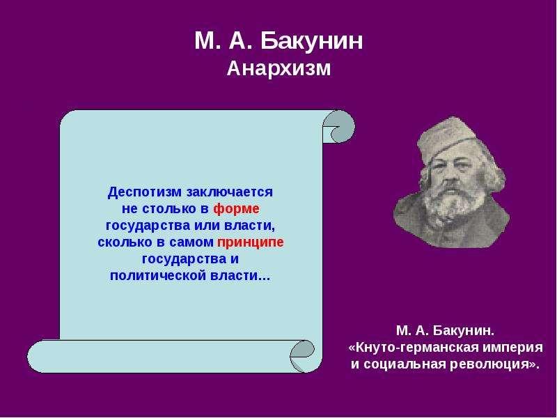 М. А. Бакунин Анархизм