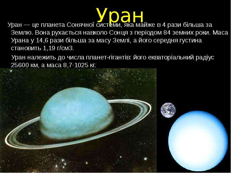 Уран планета на рисунке