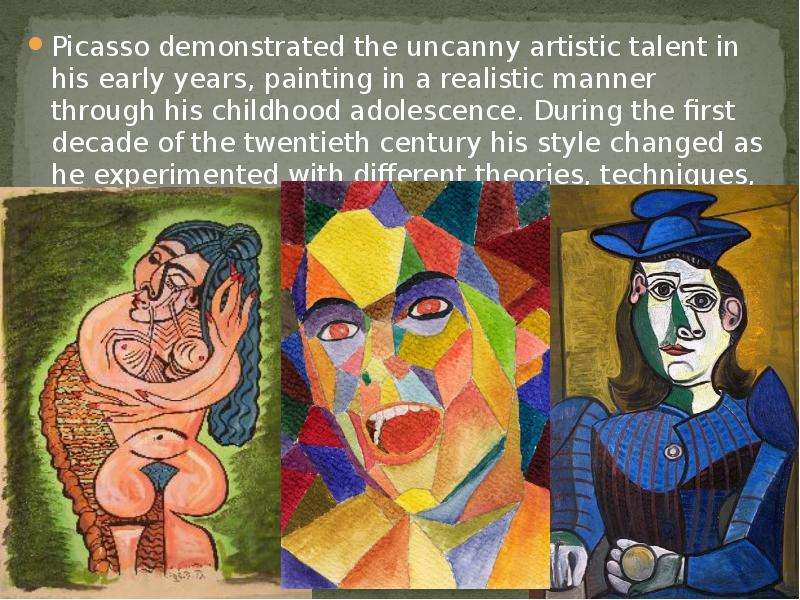 an analysis of the topic of pablo picasso during the twentieth century