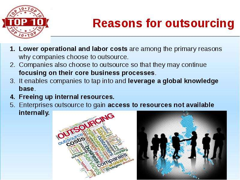 economics company outsourcing What is 'outsourcing' outsourcing is the business practice of hiring a party outside a company to we look at whether it is sustainable in such a stark economic.