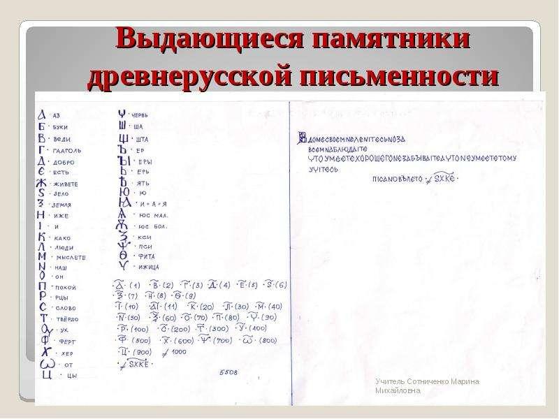 """""""Выдающиеся памятники древнерусской письменности"""" - презентации по МХК"""