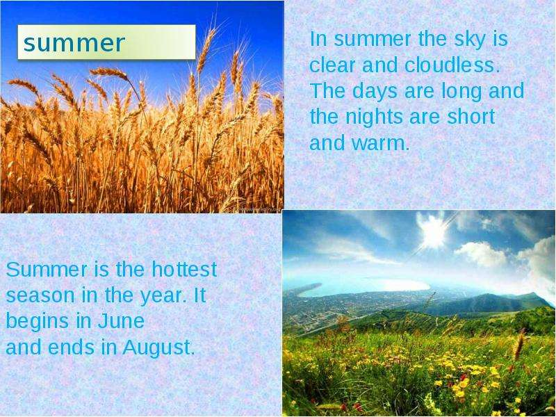my favorite season is summer Lindsay / united states my favorite season is summer i love summer there is no school it's warm the sun sets late you can sit on.