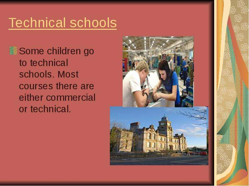 the history of technical education in