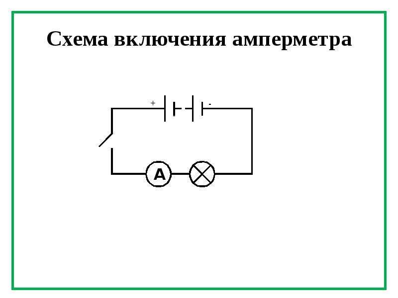 Амперметра электрическая схема
