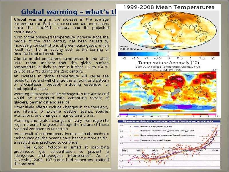 global warming summary