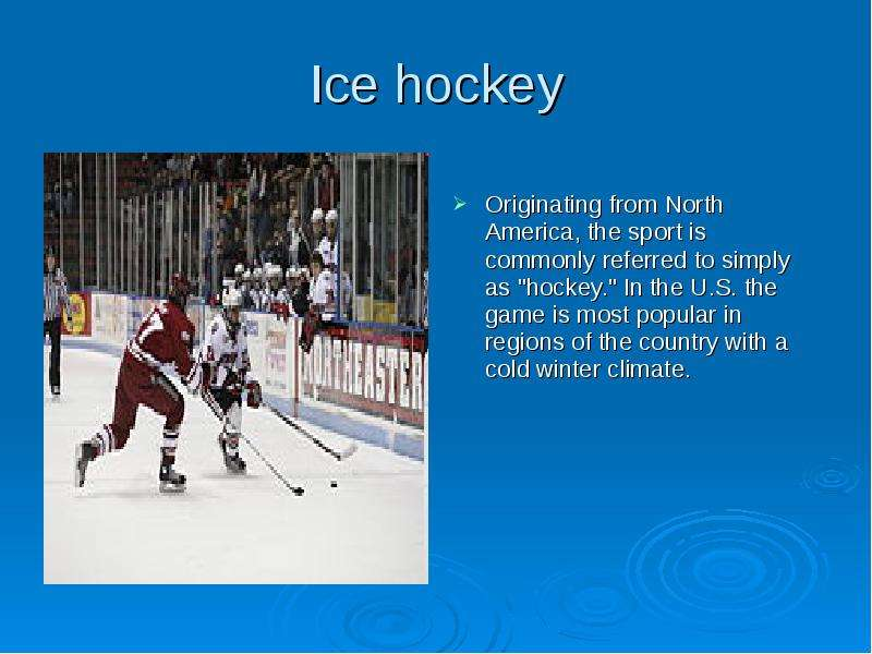 an introduction to the sport of hockey in the united states Iihf sport department introduction the iihf sport development program which was initiated in 1997 co-operates with member national associations in a partnership to develop and promote hockey world wide.