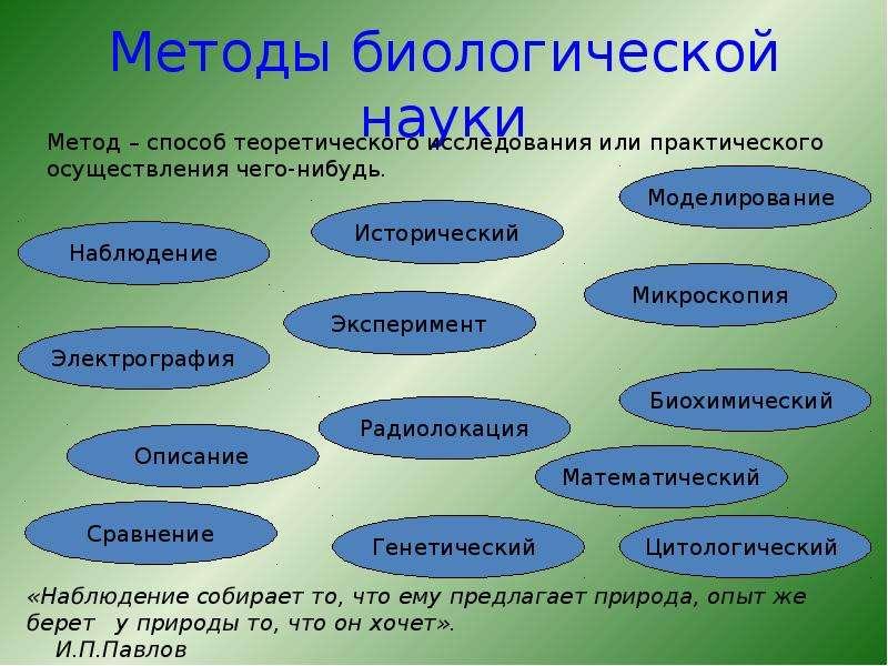 Методы биологической науки