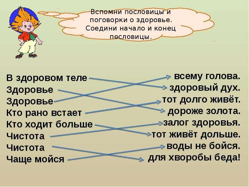 Русские пословицы и поговорки о спорте и здоровье для