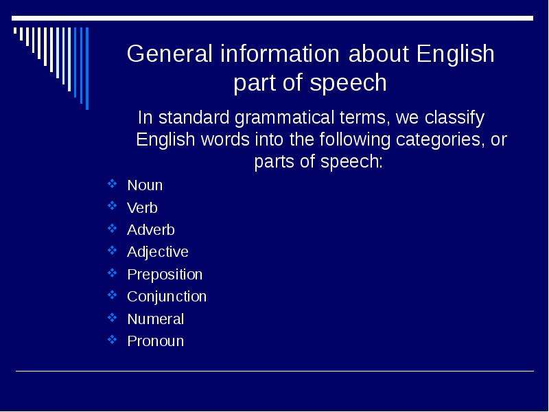 grammatical categories of speech This is a complete english grammar guide with the rules of english usage each grammatical rule is explained in plain english with several examples, and when needed, counter-examples.