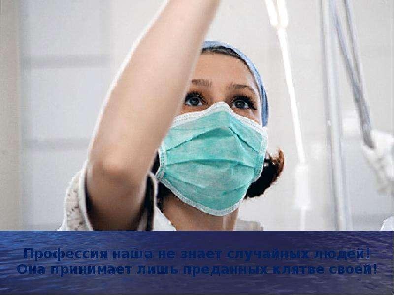 Презентация на тему  Профессия медицинской сестры
