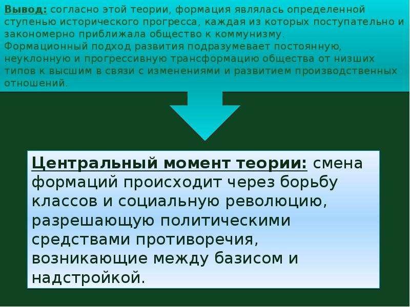Стадии исторического развития: формационный подход, рационалистический подход, организмический подход., слайд 5