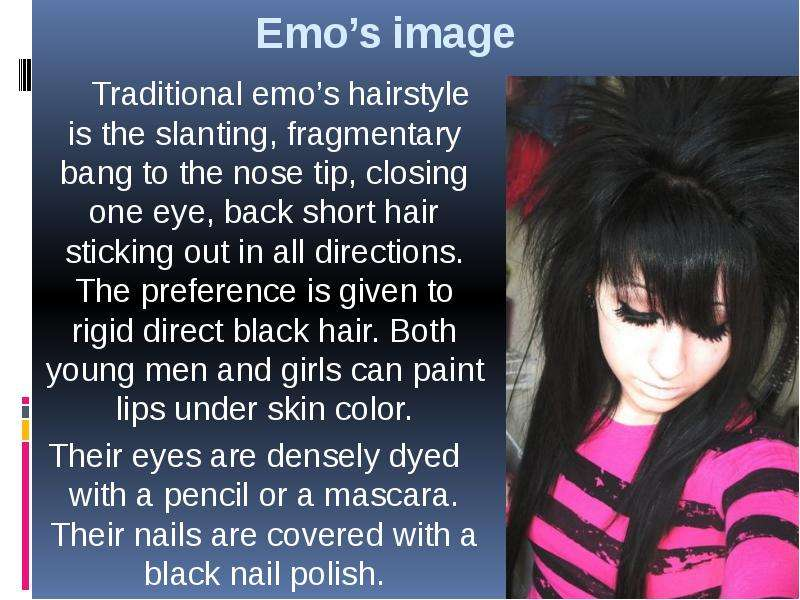 emos in modern culture Emo counterculture what is emo emo is defined as a style of rock music resembling punk but having more complex arrangements and.